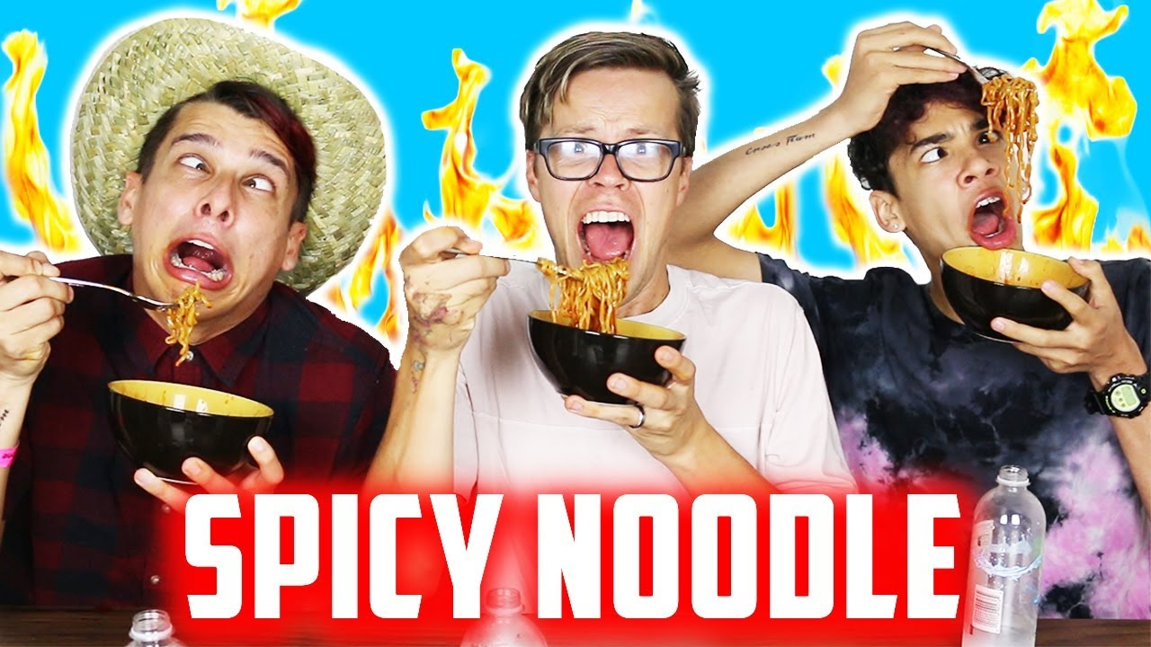 SPICY RAMEN NOODLE CHALLENGE WITH THE CROES BROS!  (SPICIEST FOOD EVER!)