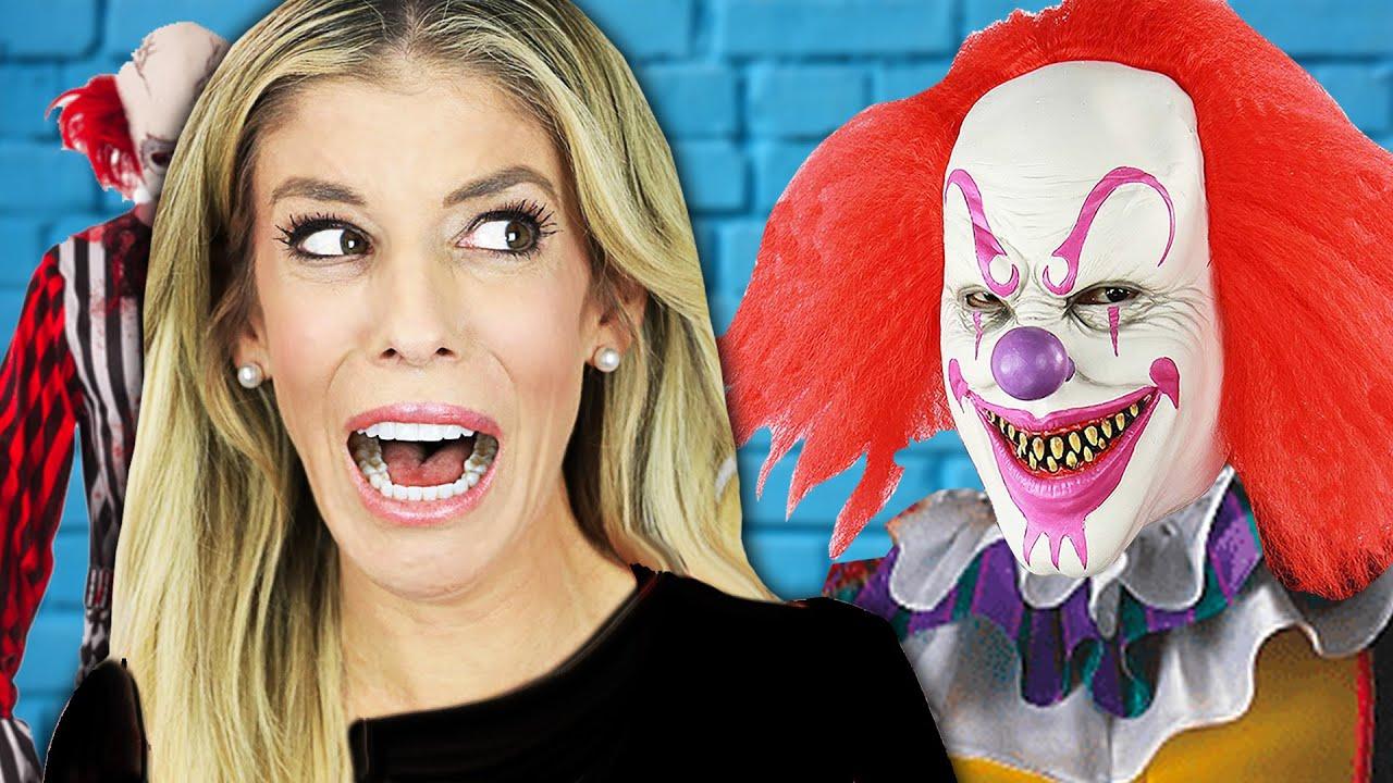 Rebecca Faces Her Biggest Fear of Clowns! (Magic Trick Pranks on Best Friend)