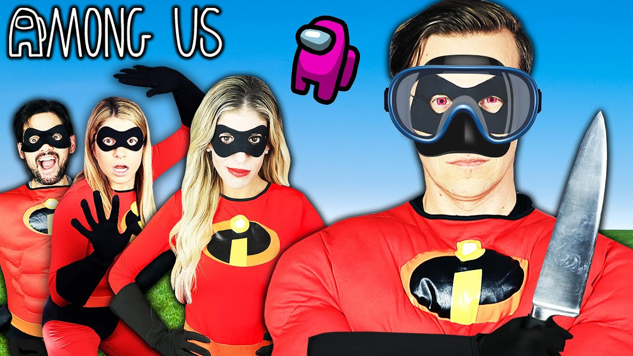 Among Us In Real Life But We Are Incredibles Super Hero Mod!