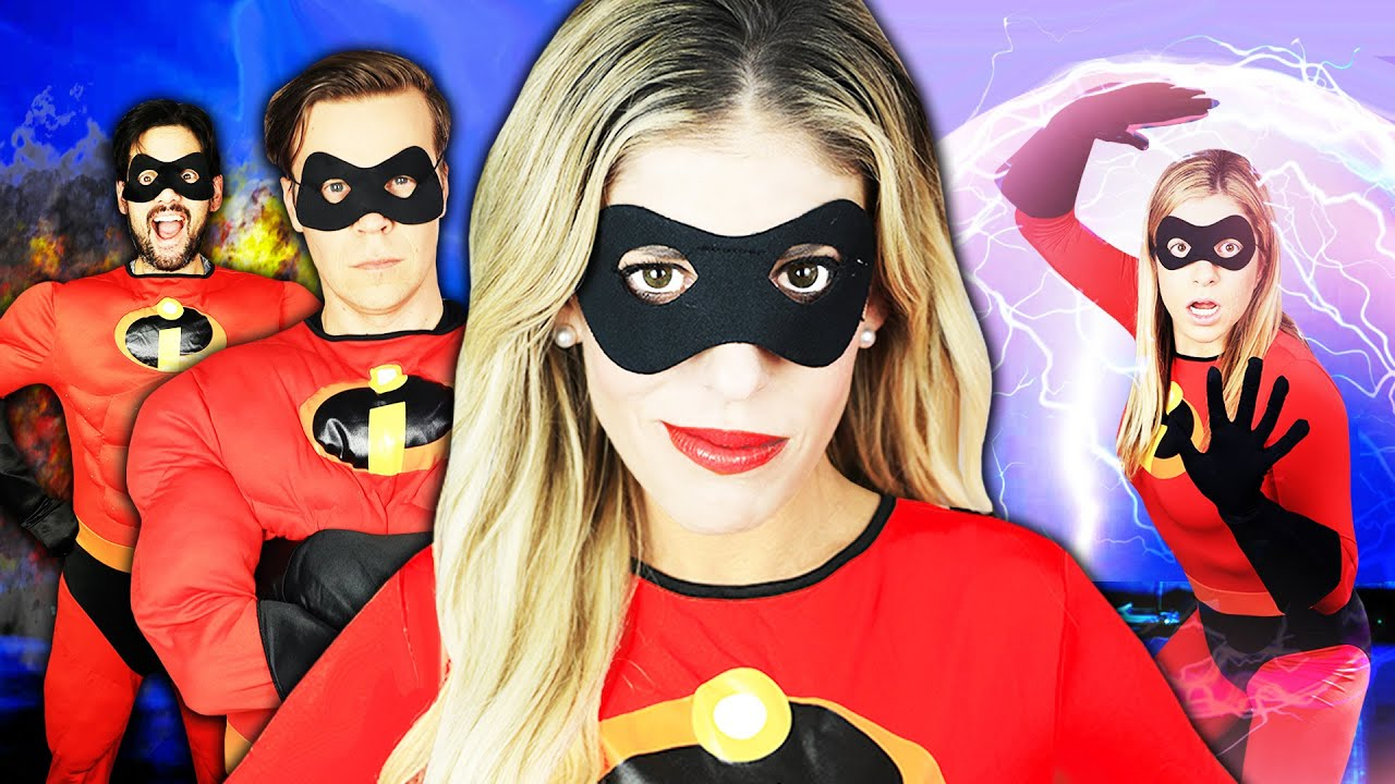 Giant INCREDIBLES But in Real Life Game PART 2! | Rebecca Zamolo