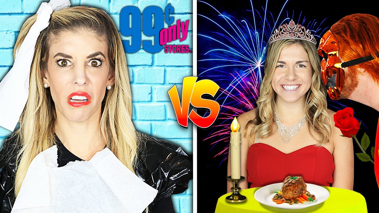 Rich Date Vs Broke Date Challenge with New Imposter Crush! Matt and Rebecca