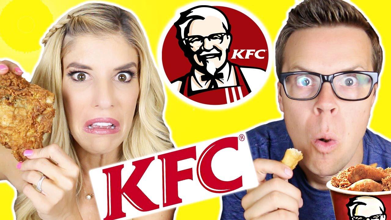 Tasting KFC Fast Food
