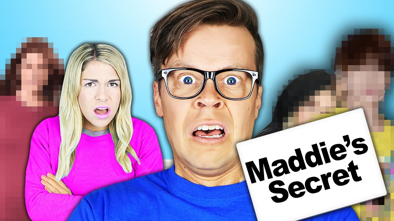 Maddie SECRET REVEAL with Strangers in Our HOUSE Challenge!
