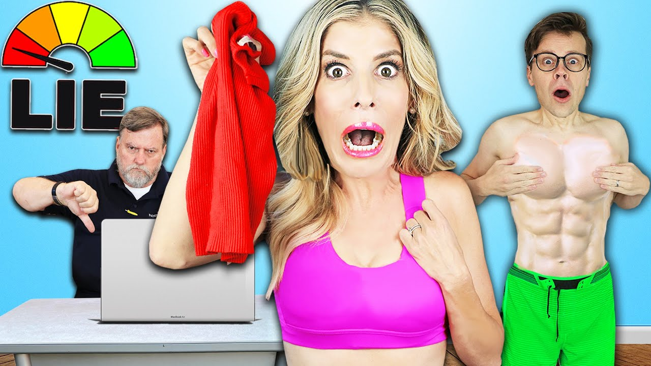 If You LIE You Have To REMOVE A LAYER OF CLOTHING – Lie Detector Test to reveal Truth on The GameMaster.com