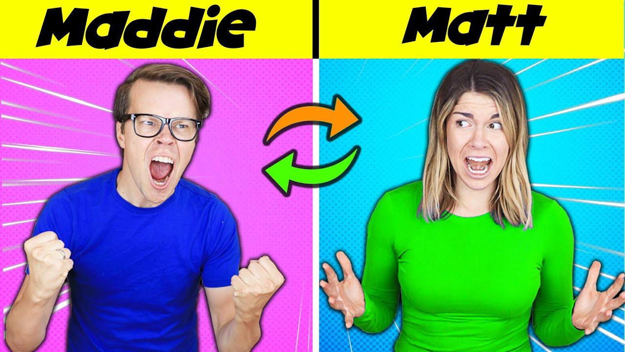 Body Swap Reverse!  Switching Matt and Maddie Back True Identity