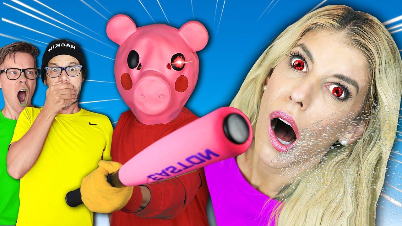 An Evil Piggy Got Rebecca, Roblox Game in Real Life